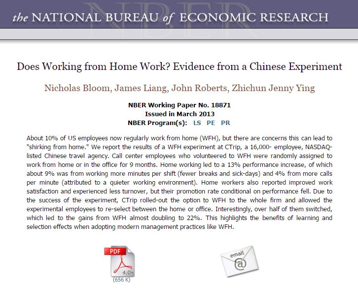 Does Working from Home Work? Evidence from a Chinese Experiment
